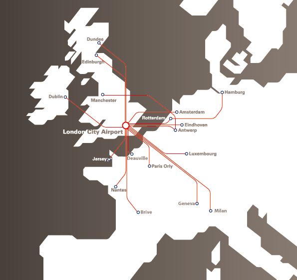 CityJet Destinations from London City Airport   -    New European destinations from London City Airport