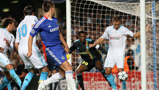Chelsea scores against Marseille