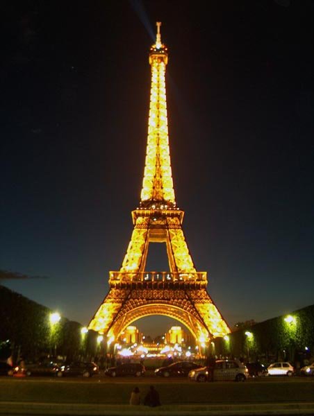 The Eiffle Tower: Probably the Best Place to spend the night in Paris