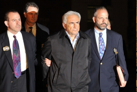 DSK with handcuffs