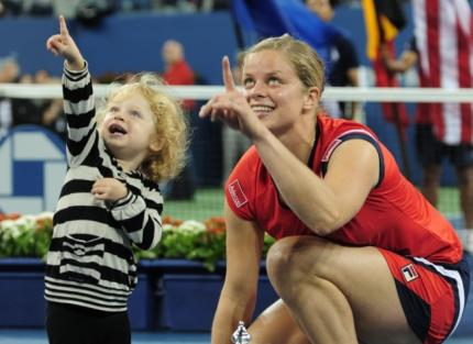 Clijsters and her daughter