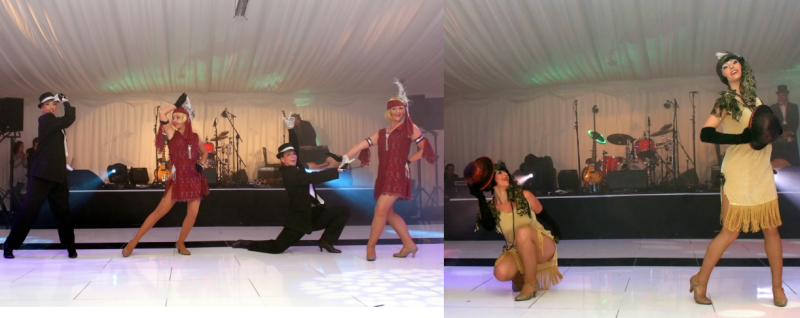 The flapper girls lead the way on the dance floor