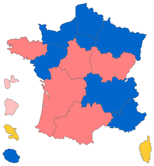 Map of the results