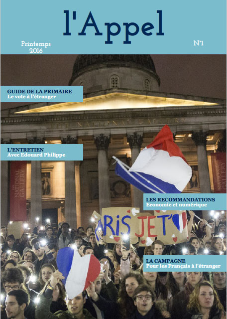 The first page of the magazine L'Appel