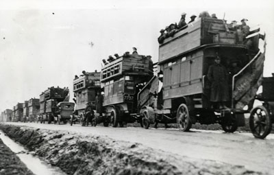 The Battle buses were used to transport troops and equipment