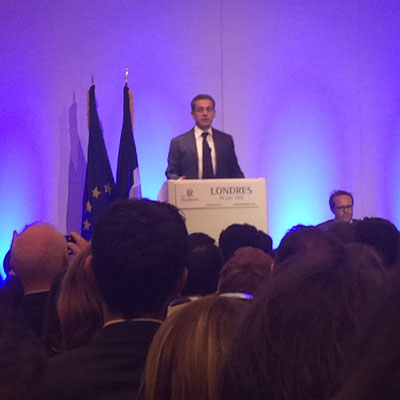 Nicolas Sarkozy was in London to meet the French community