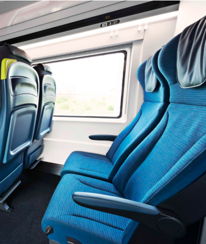 The new seats presented on Eurostar website